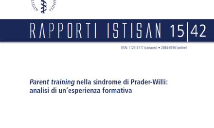 Rapporto ISTISAN, il Parent Training nella PWS